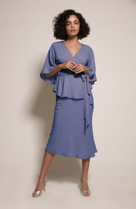 Kyoto Top with Paris Skirt in Bluebell from the Rewritten SS19 Collection