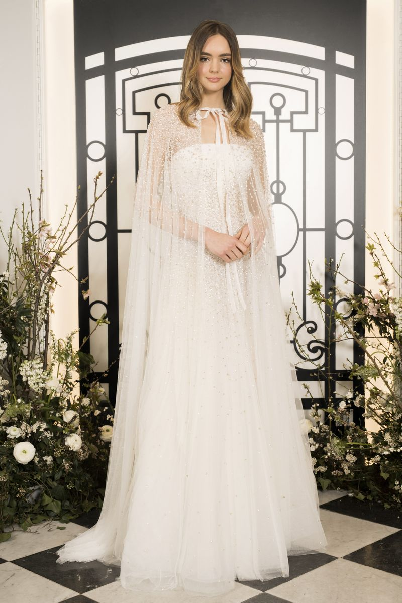 Maria Wedding Dress with Callas Cape from the Jenny Packham 2020 Bridal Collection