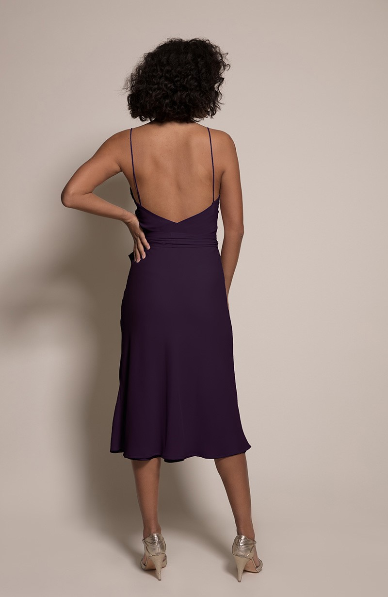 Oslo Bridesmaid Dress in Blackcurrant from the Rewritten SS19 Collection