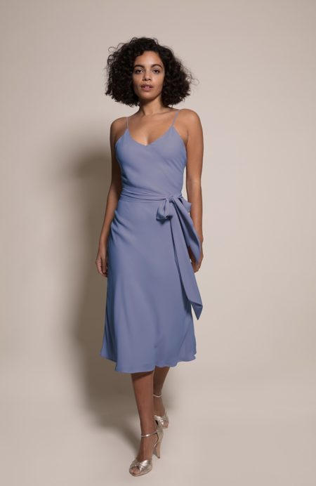 Oslo Bridesmaid Dress in Bluebell from the Rewritten SS19 Collection