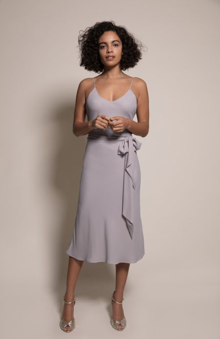 Oslo Bridesmaid Dress in Concrete from the Rewritten SS19 Collection