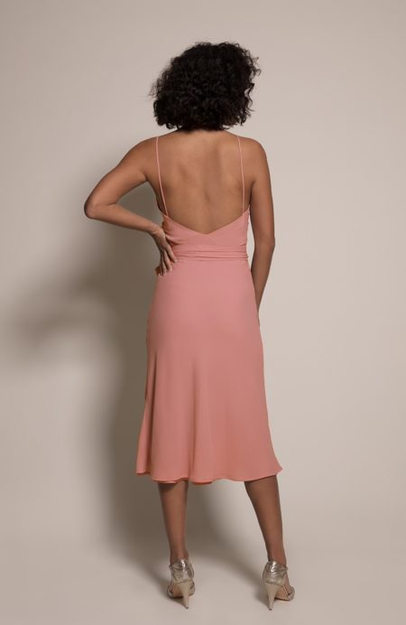 Oslo Bridesmaid Dress in Coral from the Rewritten SS19 Collection