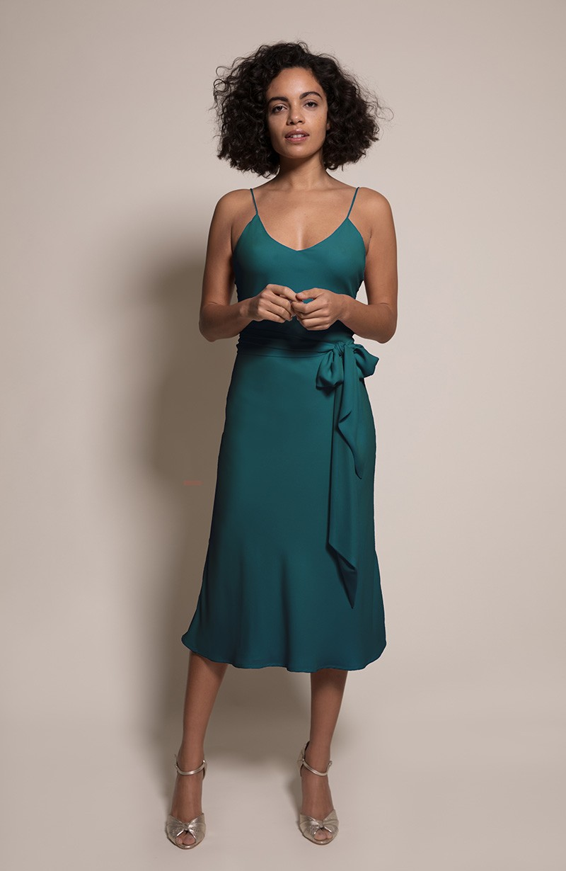 Oslo Bridesmaid Dress in Forest from the Rewritten SS19 Collection