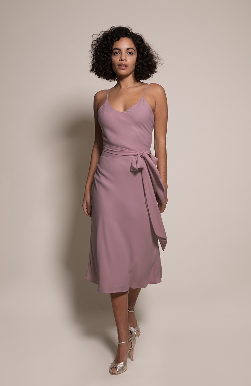 Oslo Bridesmaid Dress in Heather from the Rewritten SS19 Collection