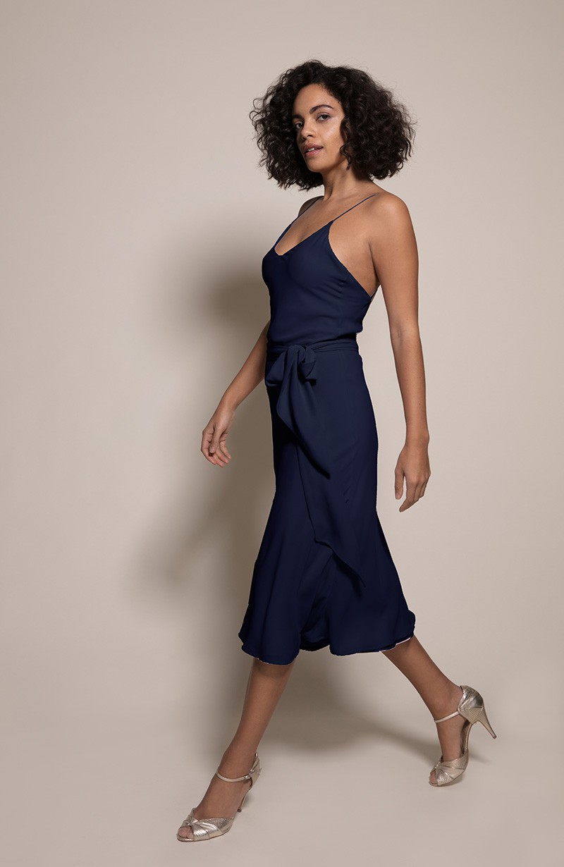 Oslo Bridesmaid Dress in Ink from the Rewritten SS19 Collection
