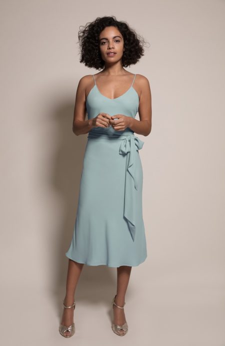 Oslo Bridesmaid Dress in Marine from the Rewritten SS19 Collection