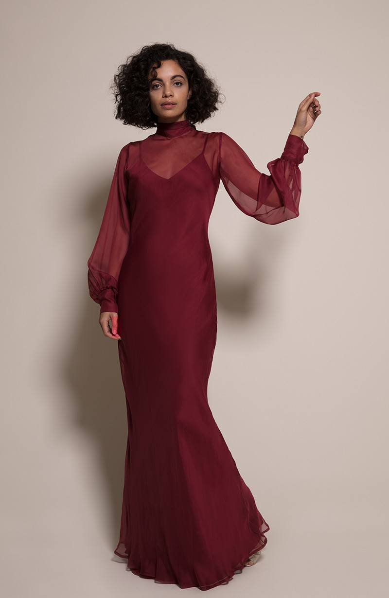 Prague Bridesmaid Dress in Chianti from the Rewritten SS19 Collection