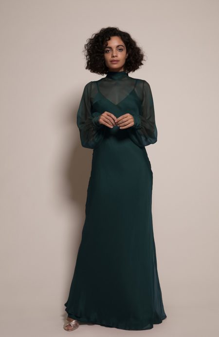 Prague Bridesmaid Dress in Forest from the Rewritten SS19 Collection