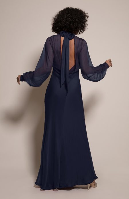 Prague Bridesmaid Dress in Ink from the Rewritten SS19 Collection
