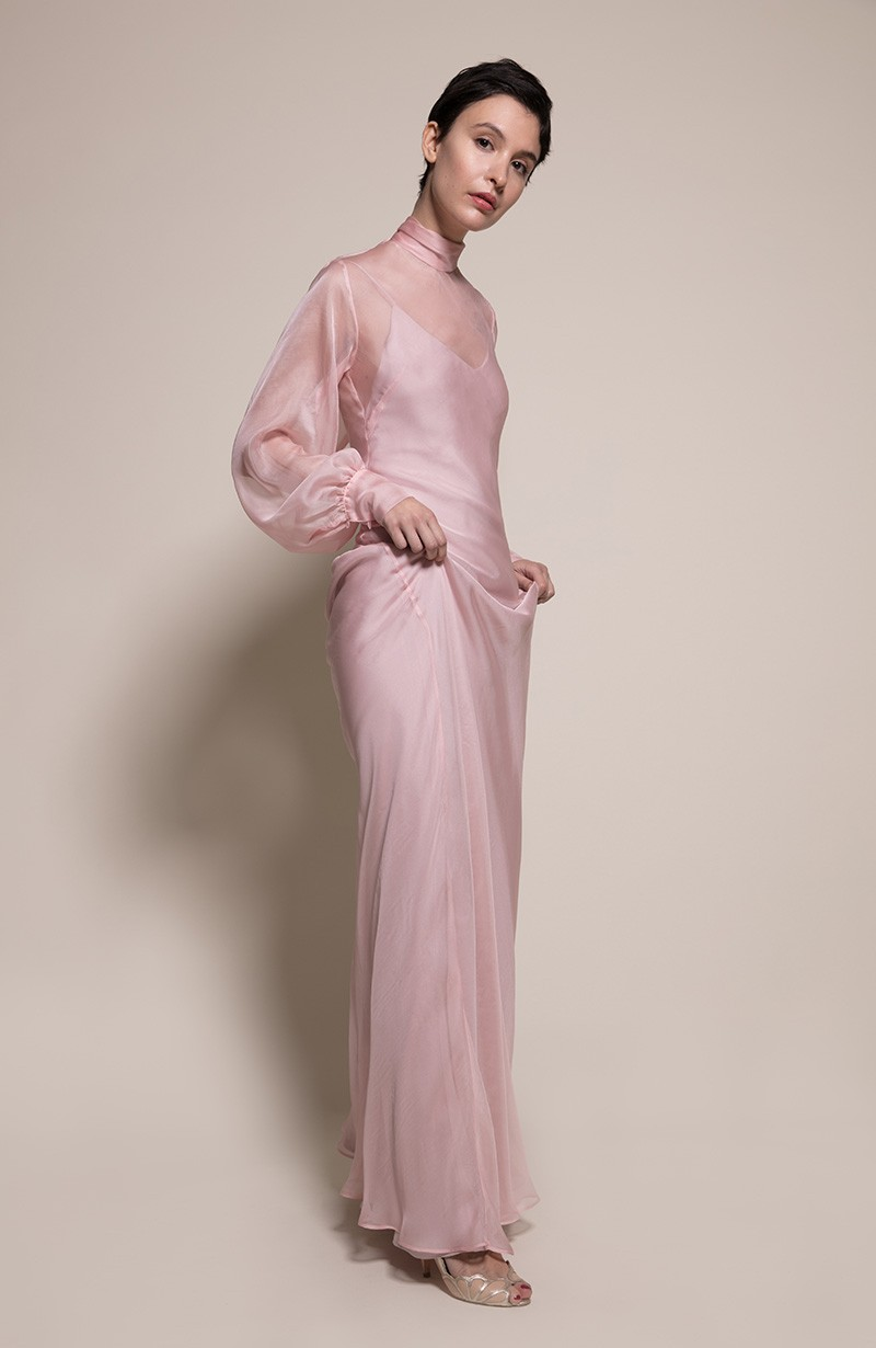 Prague Bridesmaid Dress in Oyster from the Rewritten SS19 Collection