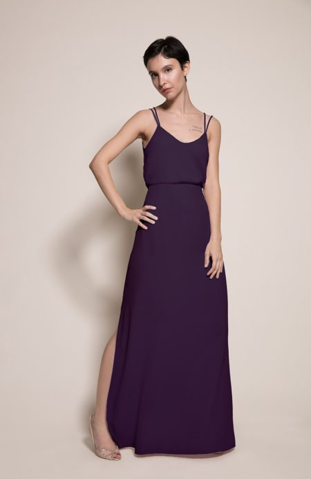 Provence Top with Sicily Skirt in Blackcurrant from the Rewritten SS19 Collection