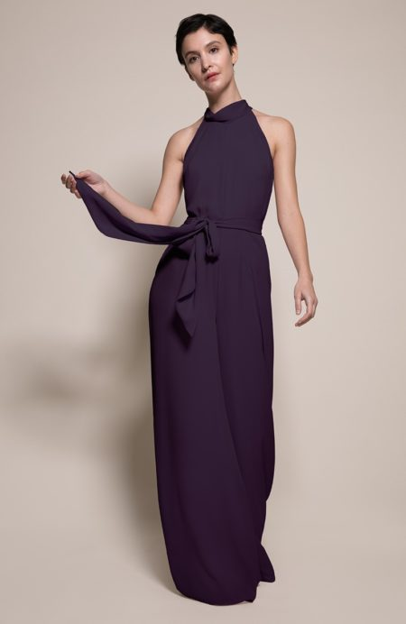 Soho Bridesmaid Jumpsuit in Blackcurrant from the Rewritten SS19 Collection