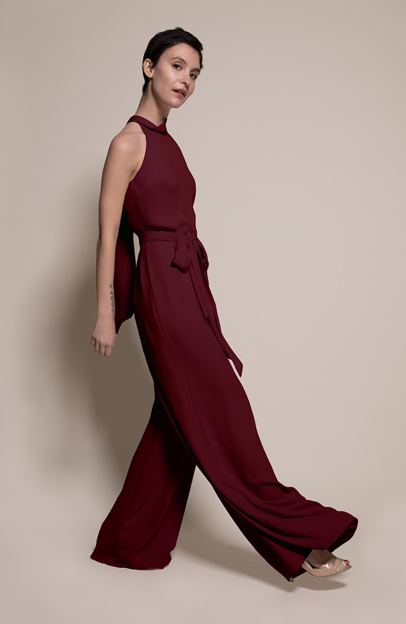 Soho Bridesmaid Jumpsuit in Chianti from the Rewritten SS19 Collection
