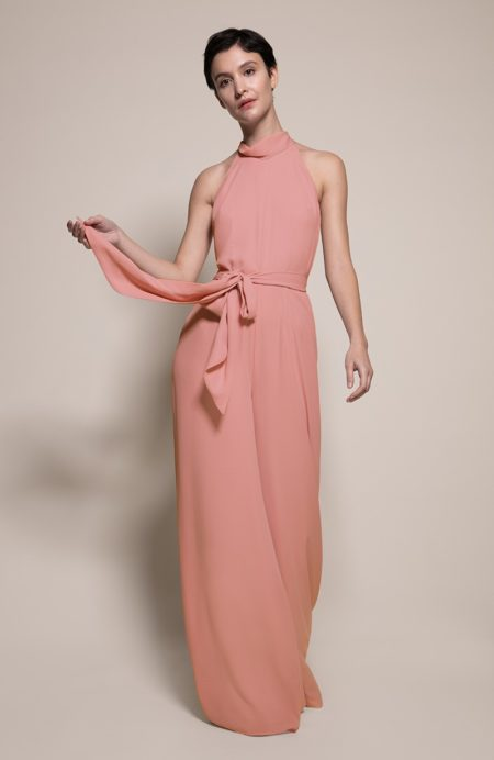 Soho Bridesmaid Jumpsuit in Coral from the Rewritten SS19 Collection