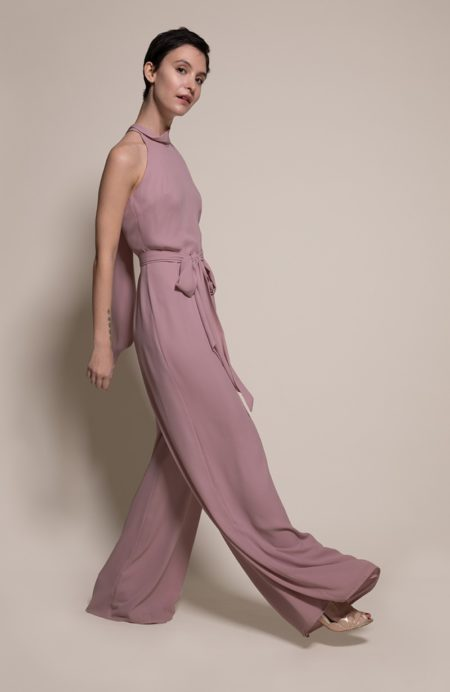 Soho Bridesmaid Jumpsuit in Heather from the Rewritten SS19 Collection