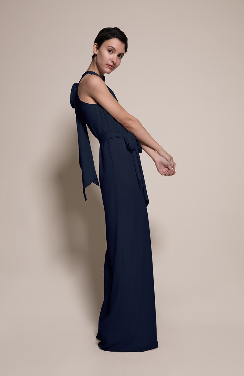Soho Bridesmaid Jumpsuit in Ink from the Rewritten SS19 Collection