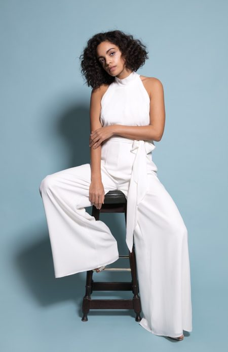 Soho Bridesmaid Jumpsuit in Ivory from the Rewritten SS19 Collection