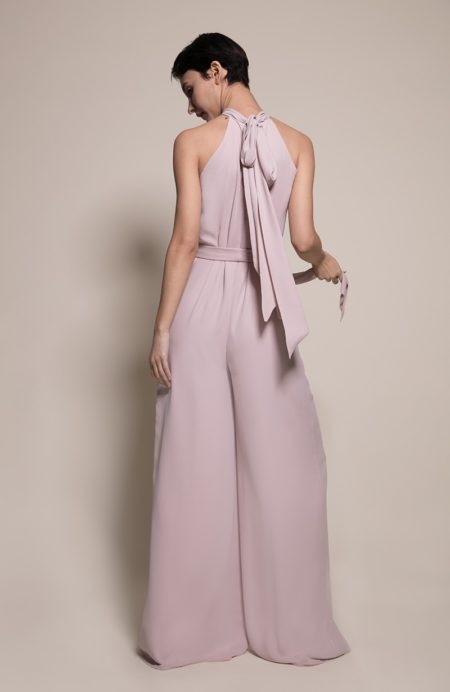 Soho Bridesmaid Jumpsuit in Oyster from the Rewritten SS19 Collection
