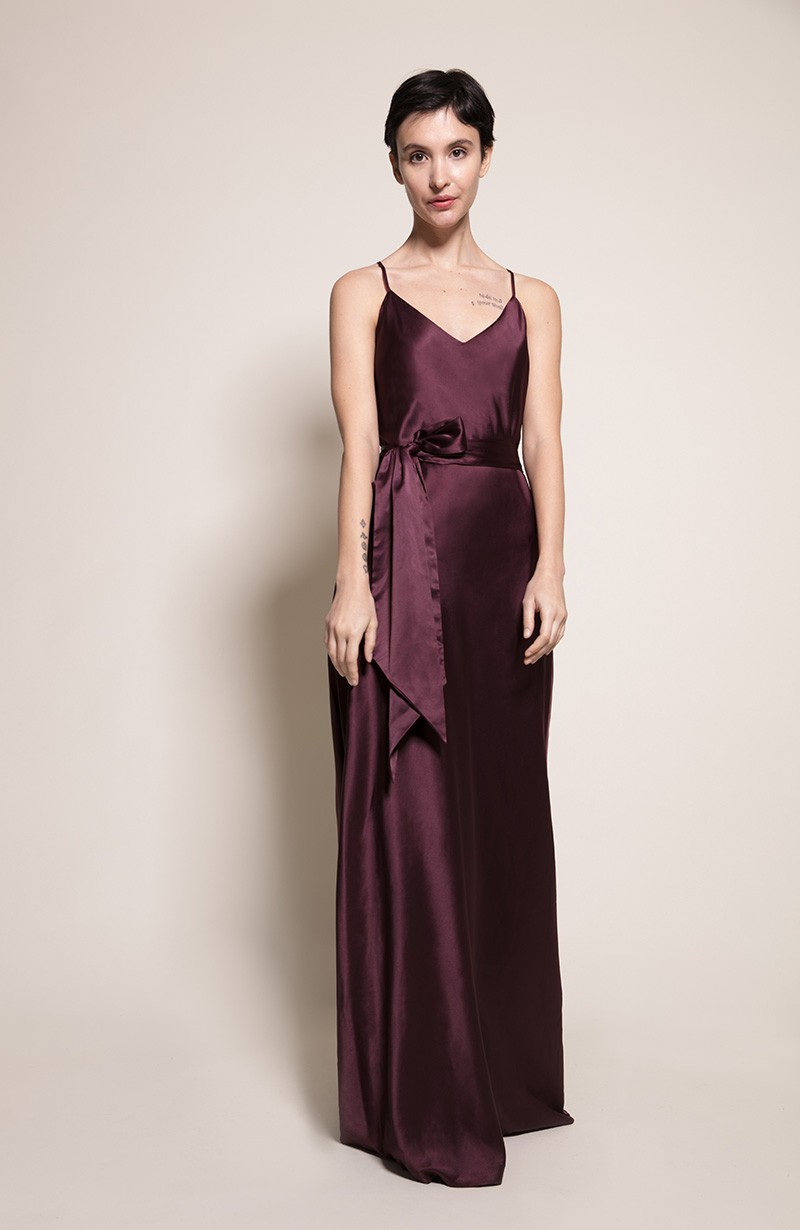 Sydney Bridesmaid Dress in Blackcurrant from the Rewritten SS19 Collection