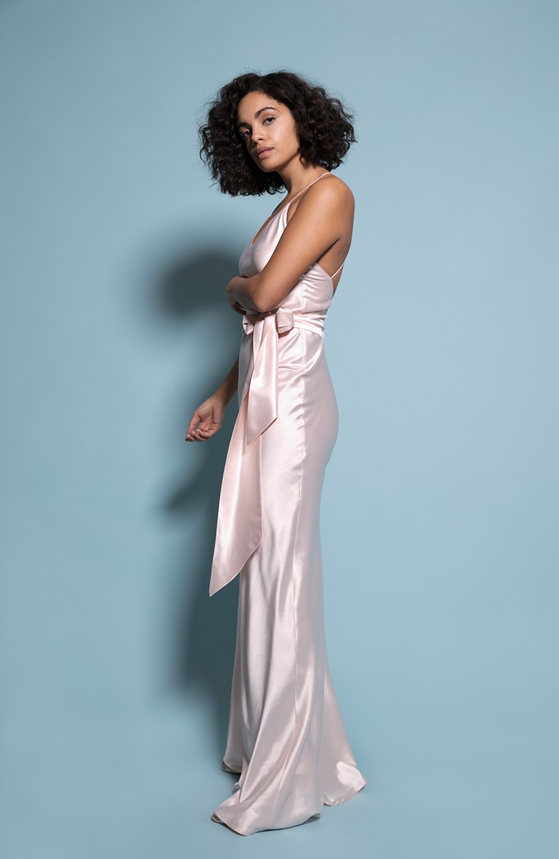 Sydney Bridesmaid Dress in Champagne from the Rewritten SS19 Collection