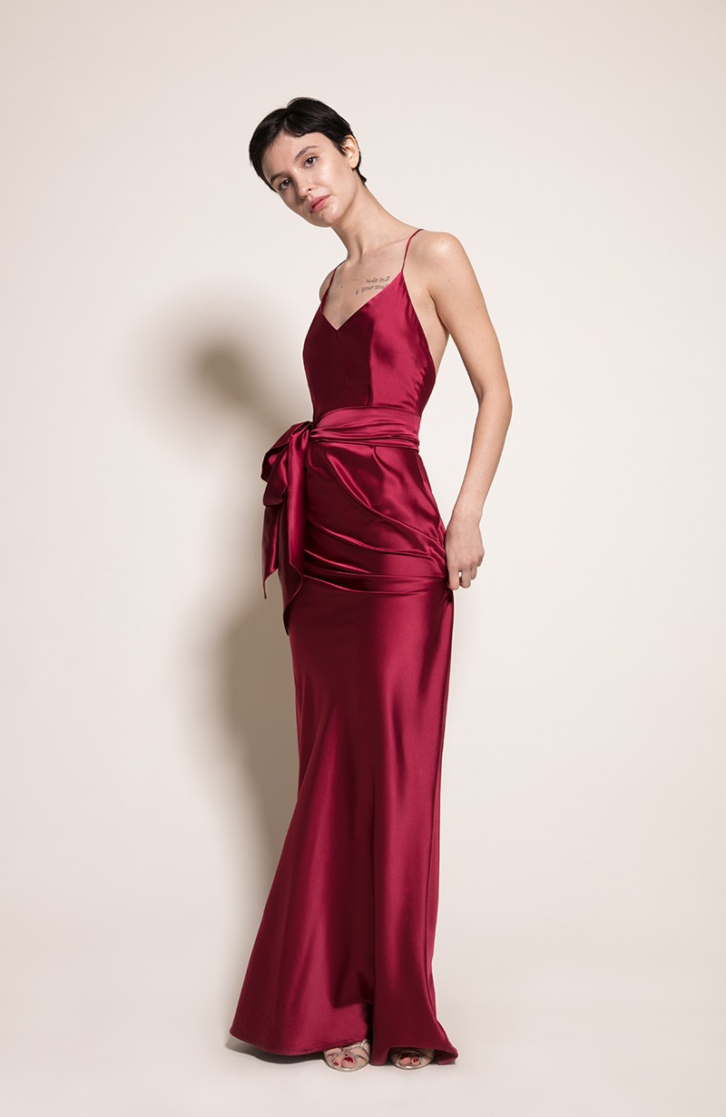 Sydney Bridesmaid Dress in Chianti from the Rewritten SS19 Collection