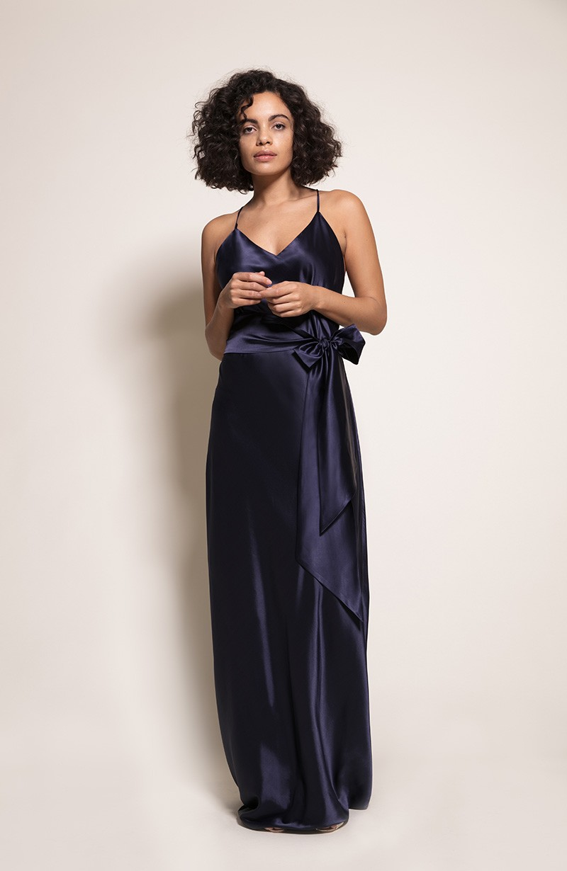 Sydney Bridesmaid Dress in Ink from the Rewritten SS19 Collection
