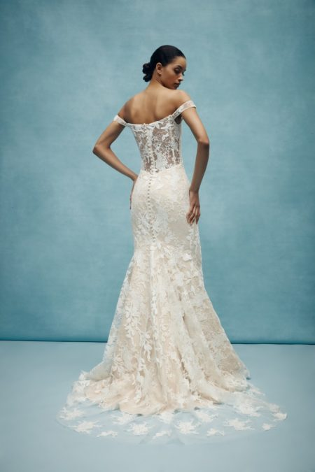 Back of Walton Wedding Dress from the Anne Barge Spring 2020 Bridal Collection