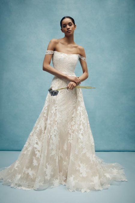 Walton Wedding Dress with Overskirt from the Anne Barge Spring 2020 Bridal Collection