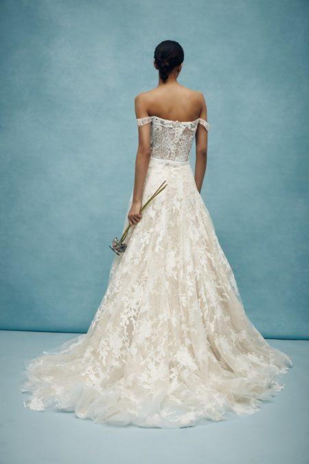Back of Walton Wedding Dress with Overskirt from the Anne Barge Spring 2020 Bridal Collection