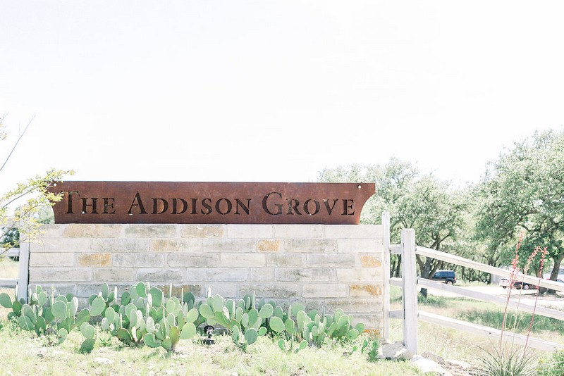 The Addison Grove sign