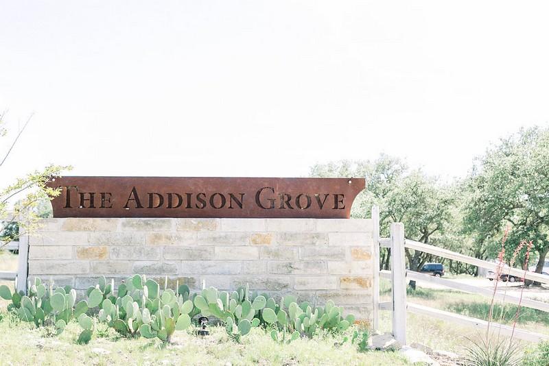 The Addison Grove sign