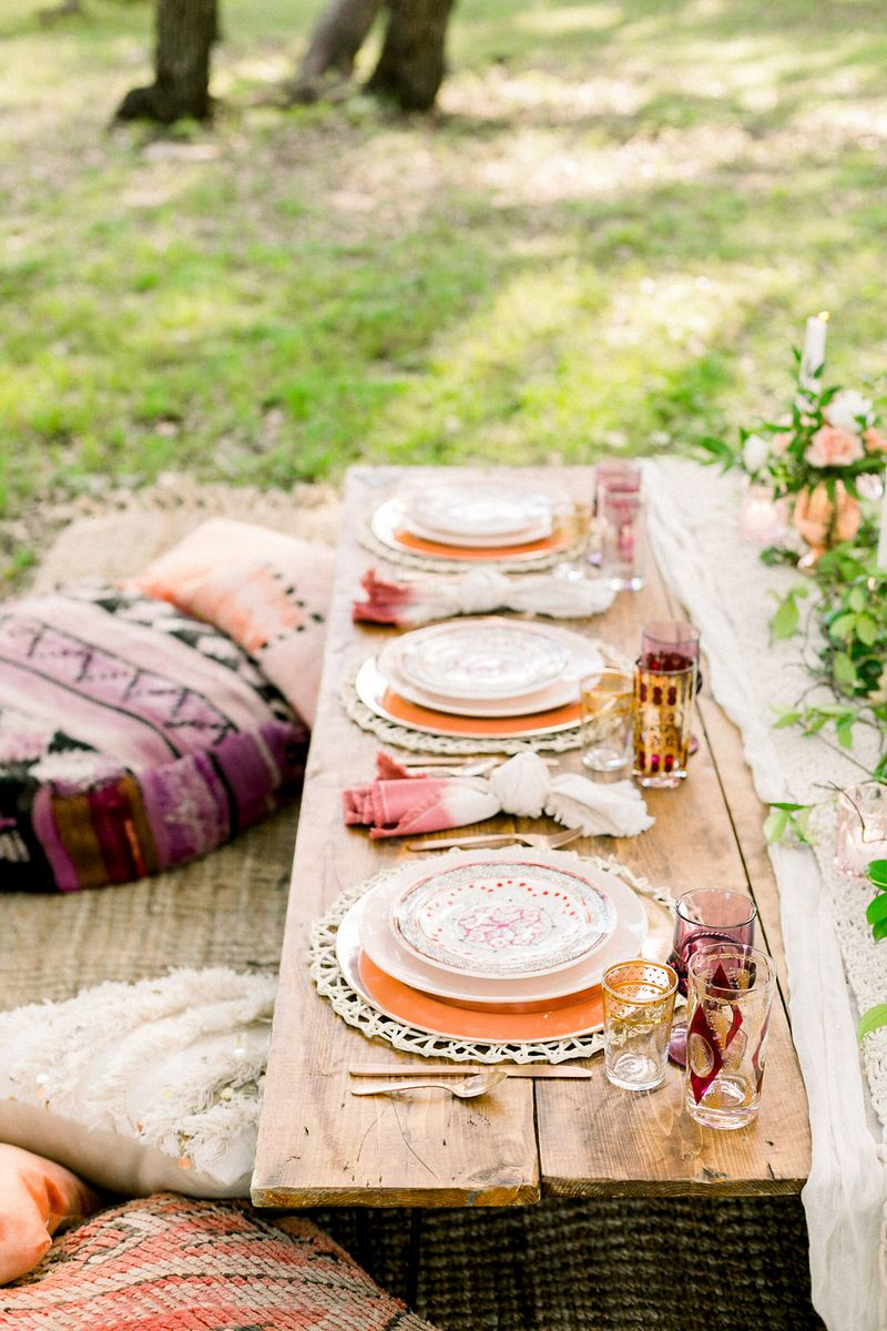 Moroccan inspired place settings