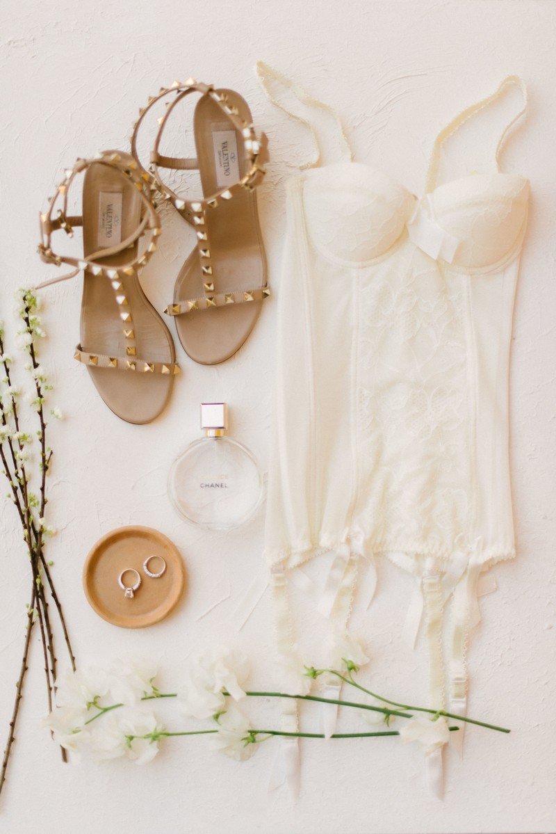 Bridal sandals and lingerie