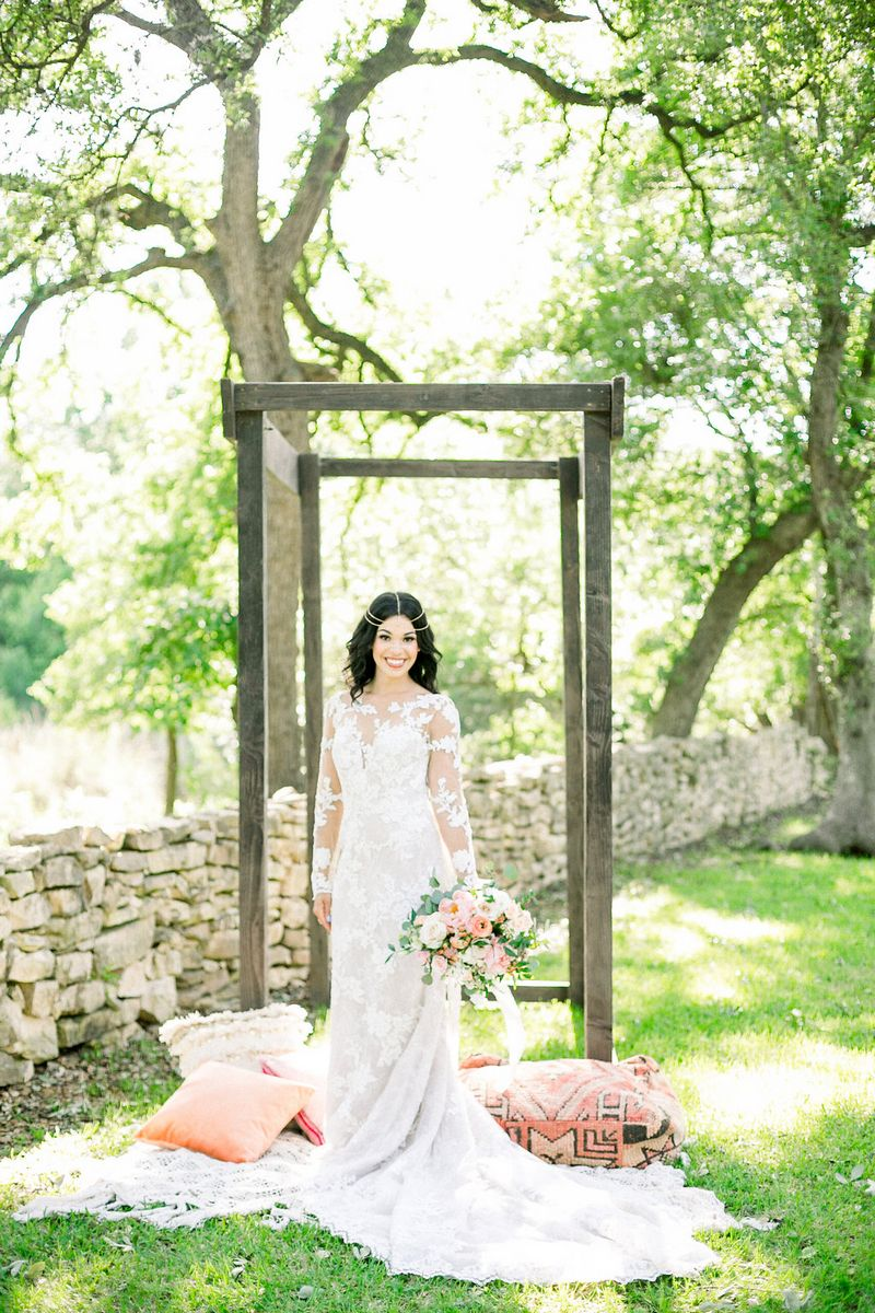 Bride-to-be in wedding dress