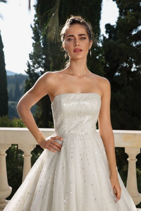Detail on Style 88070 Wedding Dress from the Justin Alexander Fall/Winter 2019 Bridal Collection