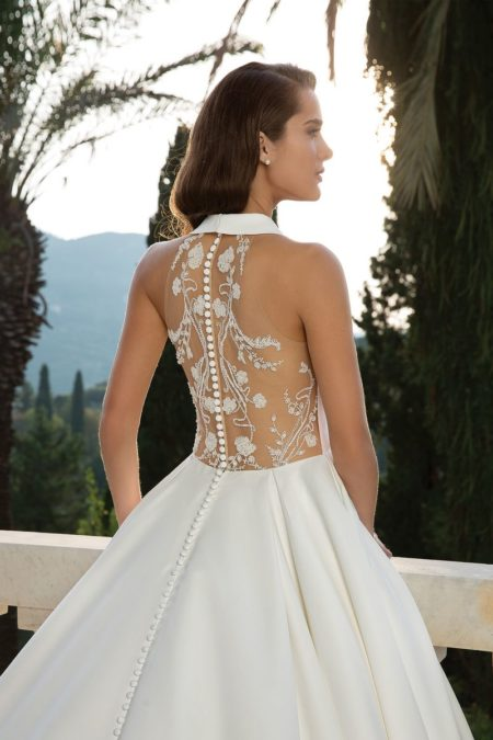 Back Detail on Style 88072 Wedding Dress from the Justin Alexander Fall/Winter 2019 Bridal Collection
