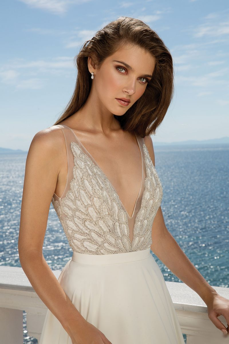 Detail on Style 88074 Wedding Dress from the Justin Alexander Fall/Winter 2019 Bridal Collection