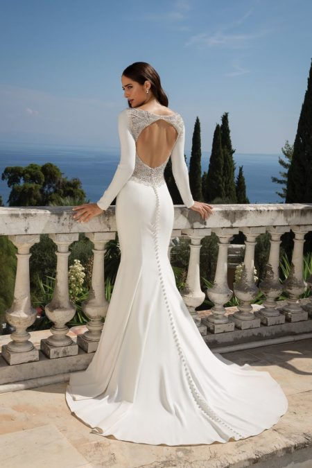 Back of Style 88076 Wedding Dress from the Justin Alexander Fall/Winter 2019 Bridal Collection