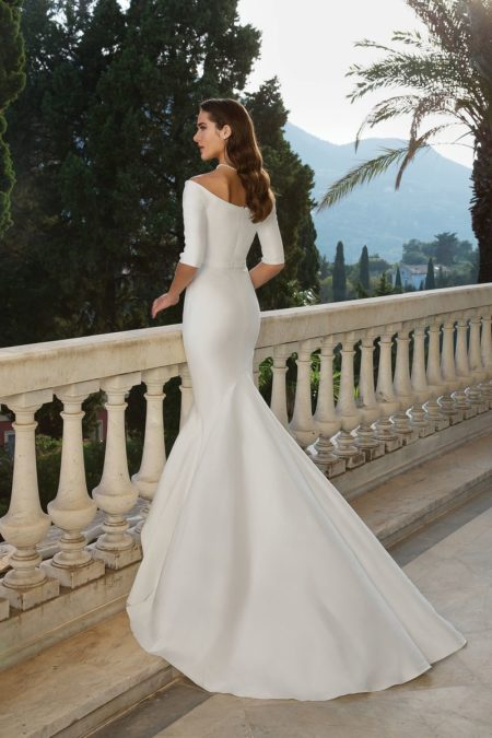 Back of Style 88079 Wedding Dress from the Justin Alexander Fall/Winter 2019 Bridal Collection