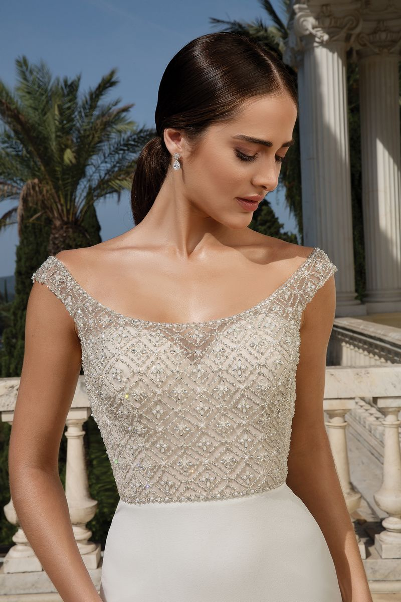 Detail on Style 88083 Wedding Dress from the Justin Alexander Fall/Winter 2019 Bridal Collection