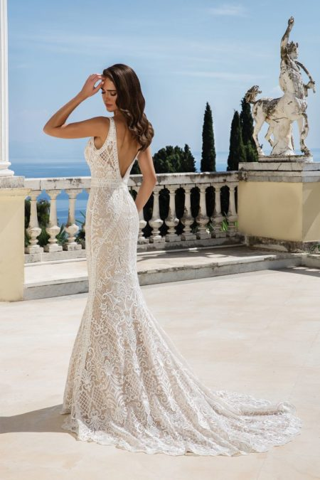 Back of Style 88084 Wedding Dress from the Justin Alexander Fall/Winter 2019 Bridal Collection