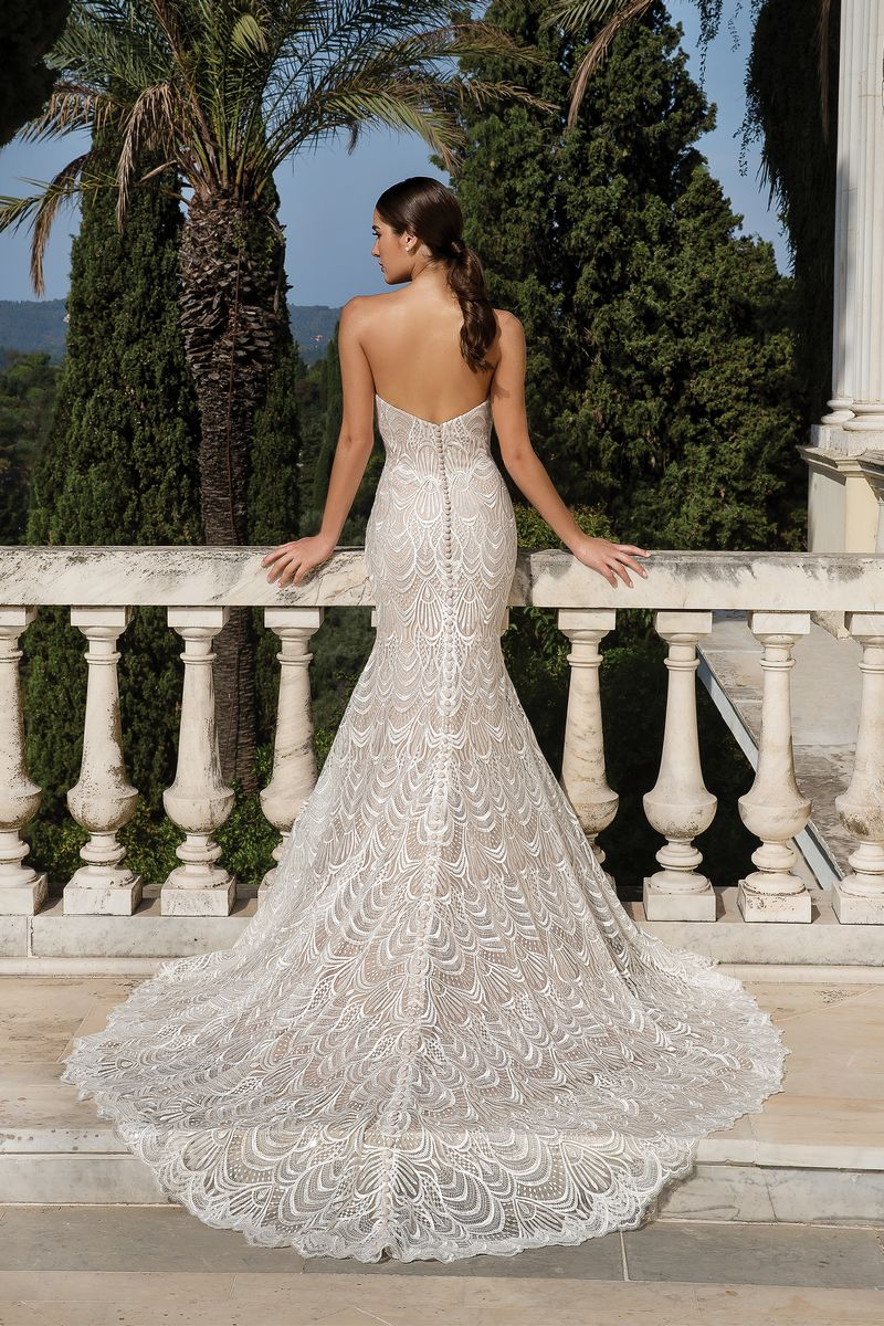 Back of Style 88085 Wedding Dress from the Justin Alexander Fall/Winter 2019 Bridal Collection