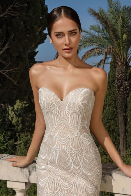 Detail on Style 88085 Wedding Dress from the Justin Alexander Fall/Winter 2019 Bridal Collection