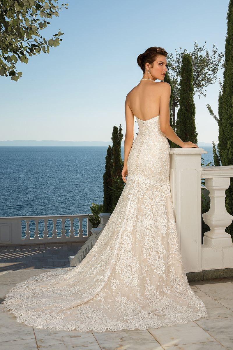 Back of Style 88087 Wedding Dress from the Justin Alexander Fall/Winter 2019 Bridal Collection