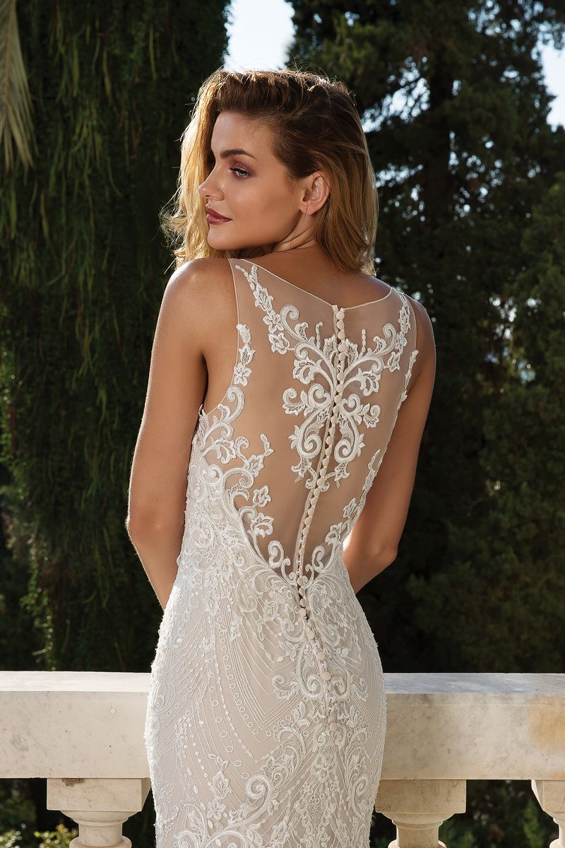 Back Detail on Style 88088 Wedding Dress from the Justin Alexander Fall/Winter 2019 Bridal Collection