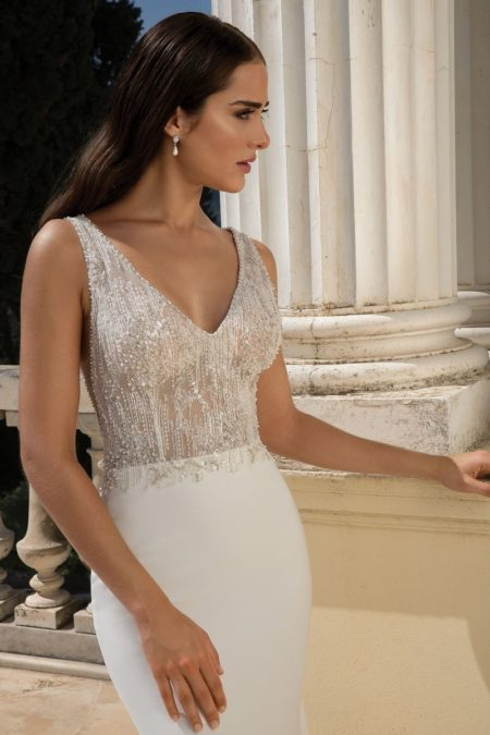 Detail on Style 88090 Wedding Dress from the Justin Alexander Fall/Winter 2019 Bridal Collection