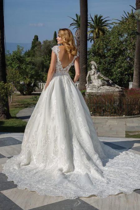 Back of Style 88096 Wedding Dress from the Justin Alexander Fall/Winter 2019 Bridal Collection