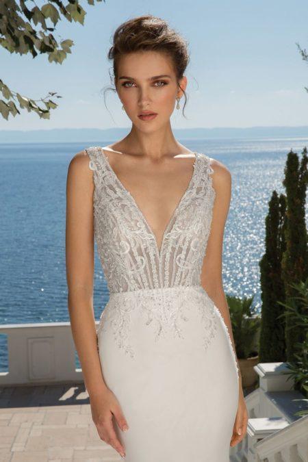 Detail on Style 88097 Wedding Dress from the Justin Alexander Fall/Winter 2019 Bridal Collection