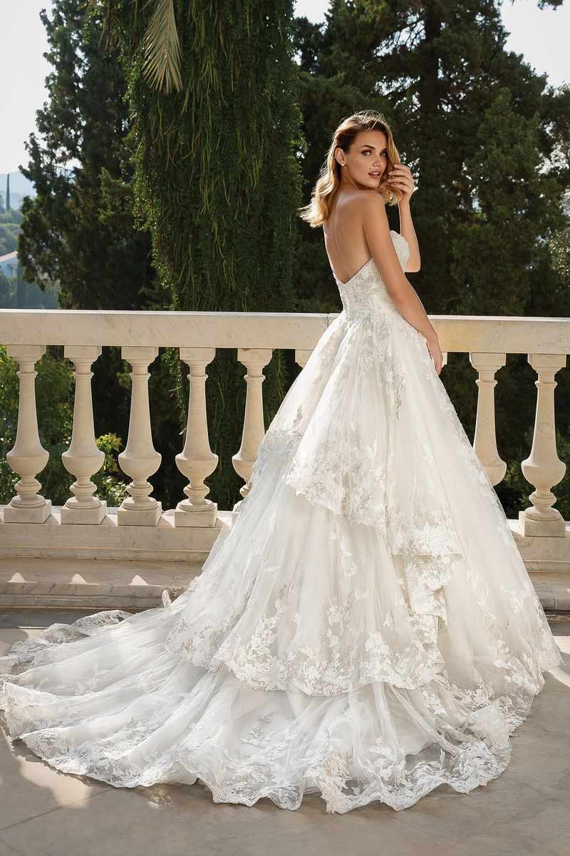 Back of Style 88098 Wedding Dress from the Justin Alexander Fall/Winter 2019 Bridal Collection