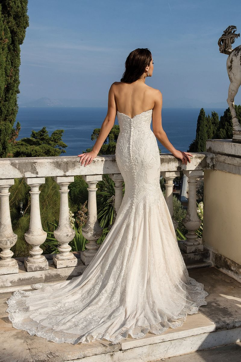 Back of Style 88101 Wedding Dress from the Justin Alexander Fall/Winter 2019 Bridal Collection